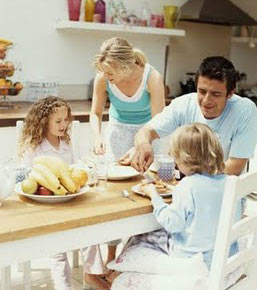 Alimentação em familia