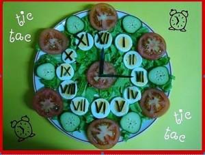 Salada-relógio -Sitio Hiromi